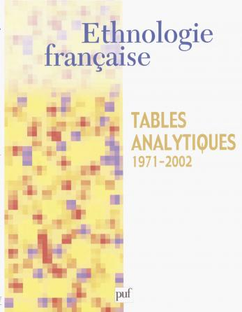 Ethnologie française 2003 - Hors-Série