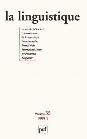 linguistique 1999, vol. 35 (1)