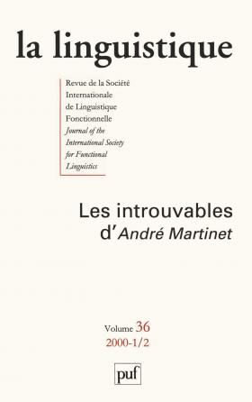 linguistique 2000, vol. 36 (1-2)