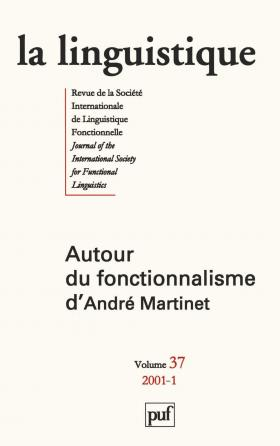 linguistique 2001, vol. 37 (1)