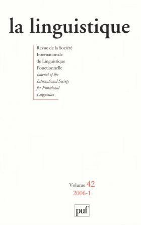 linguistique 2006, vol. 42 (1)
