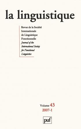 linguistique 2007, vol. 43 (1)
