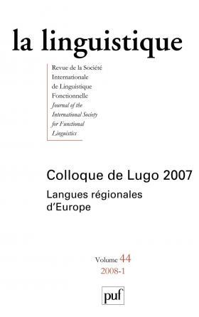 linguistique 2008, vol. 44 (1)