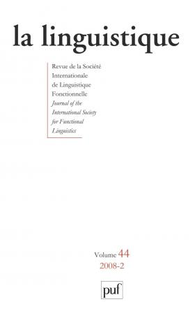 linguistique 2008, vol. 44 (2)
