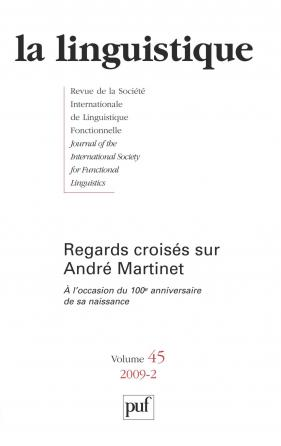 linguistique 2009, vol. 45 (2)