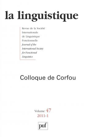 linguistique 2011, vol. 47 (1)