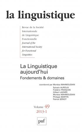 linguistique 2013, vol. 49 (1)
