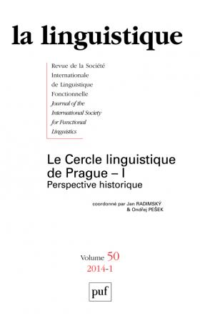 linguistique 2014, vol. 50 (1)