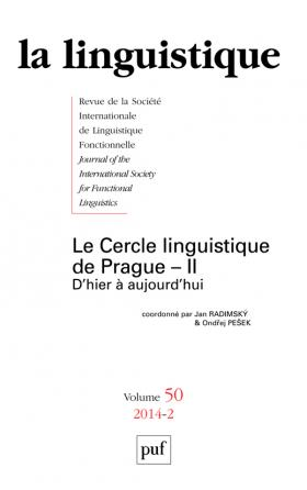 linguistique 2014, vol. 50 (2)