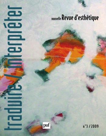 Nouvelle revue d'esthétique 2009, n° 3