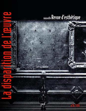 Nouvelle revue d'esthétique 2011, n° 8