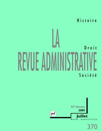 La revue administrative 2009 - n° 370