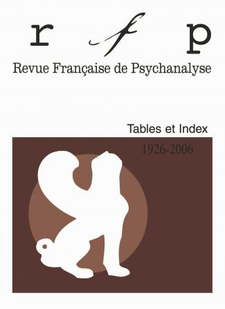 RFP. Tables et index, 1926, 2006