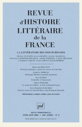 RHLF 2003, n° 2