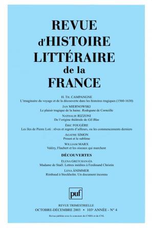 RHLF 2003, n° 4