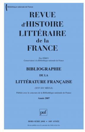 RHLF 2008, Bibliographie 2007