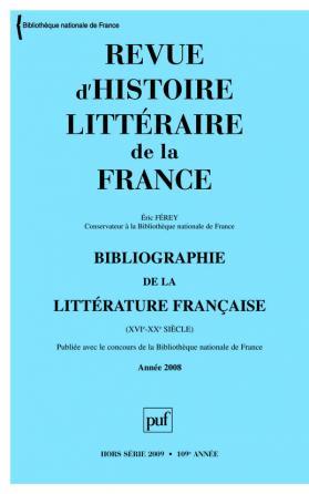RHLF 2009, Bibliographie 2008