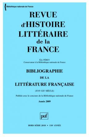 RHLF 2010, Bibliographie 2009