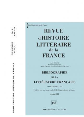 RHLF 2012, Bibliographie 2011