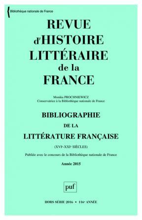 RHLF 2016, Bibliographie 2015