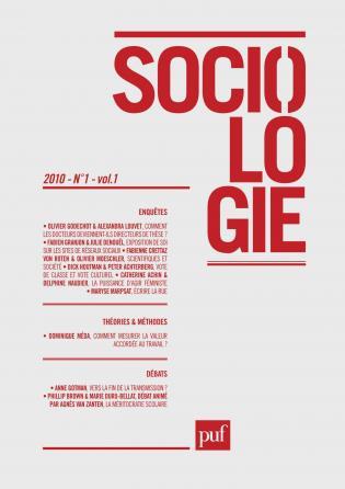 Sociologie 2010, n° 1
