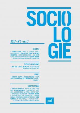 Sociologie 2012, n° 3