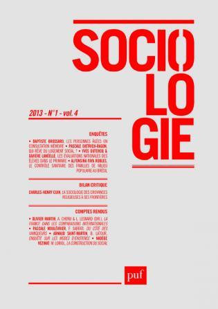 Sociologie 2013, n° 1