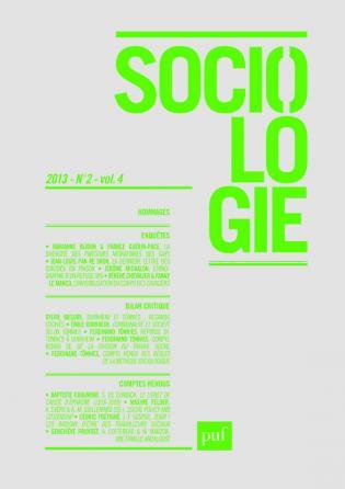 Sociologie 2013, n° 2