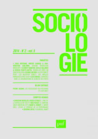 Sociologie 2014, n° 2