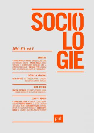 Sociologie 2014, n° 4
