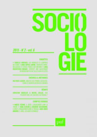Sociologie 2015, n° 2
