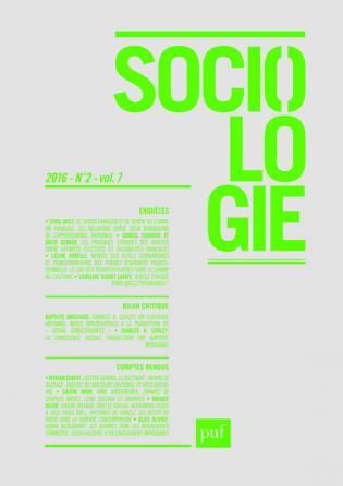 Sociologie 2016, n° 2