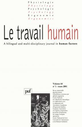 travail humain 2001, vol. 64 (1)