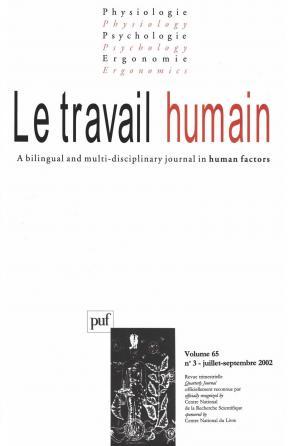 travail humain 2002, vol. 65 (3)