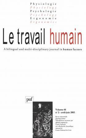travail humain 2003, vol. 66 (2)
