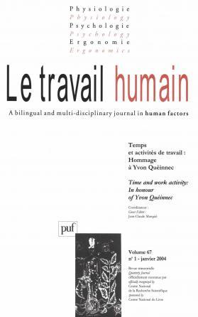travail humain 2004, vol. 67 (1)