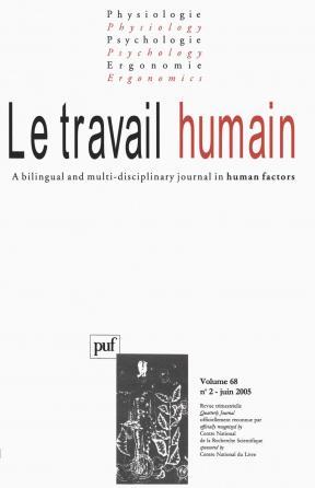 travail humain 2005, vol. 68 (2)
