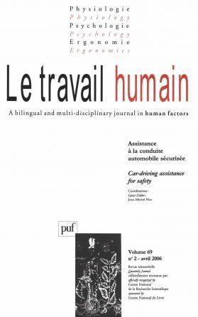 travail humain 2006, vol. 69 (2)