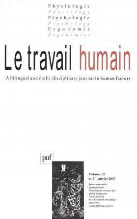 travail humain 2007, vol. 70 (2)
