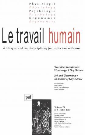travail humain 2007, vol. 70 (3)