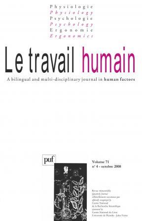 travail humain 2008, vol. 71 (4)