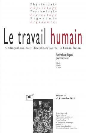 travail humain 2011, vol. 74 (4)
