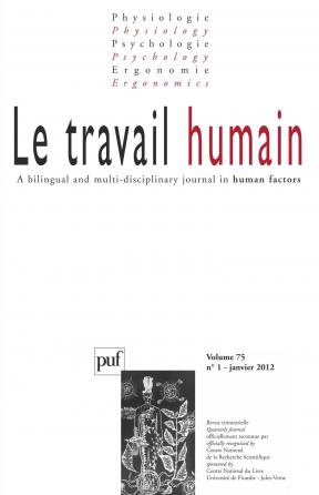 travail humain 2012, vol. 75 (1)