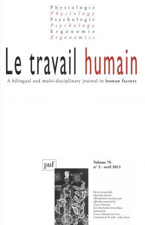 travail humain 2013, vol. 76 (2)