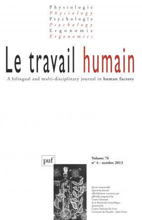 travail humain 2013, vol. 76 (4)