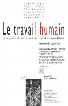 travail humain 2015, vol. 78 (1)