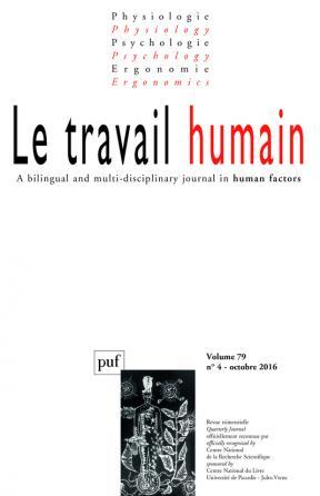 travail humain 2016, vol. 79 (4)