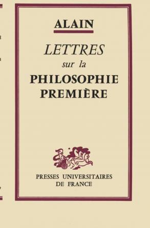 Lettres sur la philosophie première