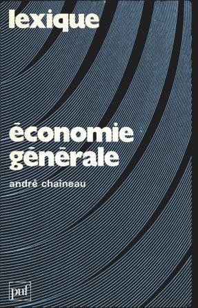 Lexique / économie générale