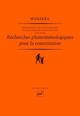 Recherches phénoménologiques pour la constitution. Livre second